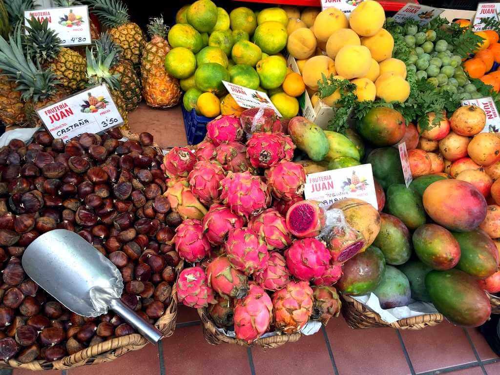 Еда на Тенерифе: фруктовая лавка