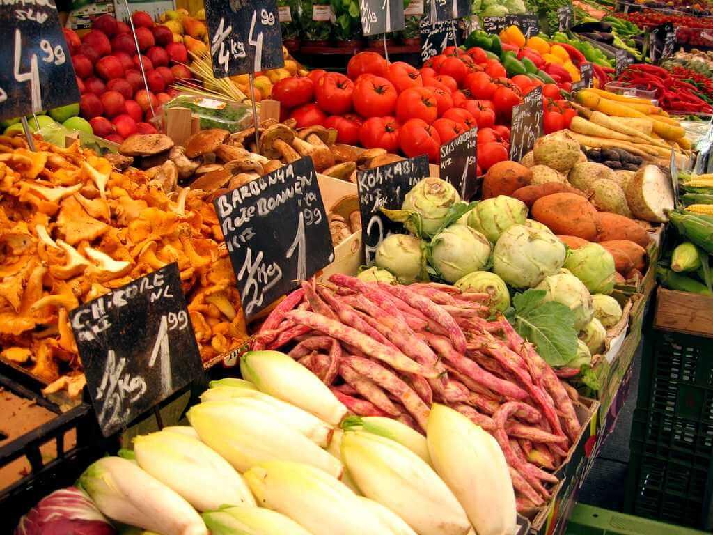 Еда на Тенерифе: овощи на рынке