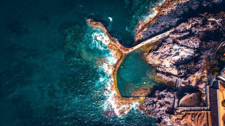 Природные бассейны Тенерифе: Лос Гигантес вид сверху