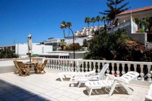 Апартаменты в Seguro el Sol Tenerife, Плайя Ла Арена - огромная терраса