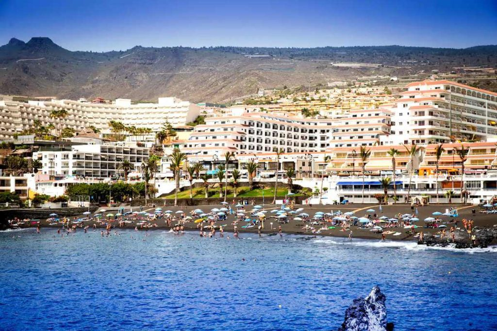Апартаменты в Seguro el Sol Tenerife, Плайя Ла Арена - вид на пляж