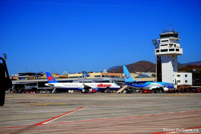 Самолеты в аэропорту Тенерифе-Южный TFS