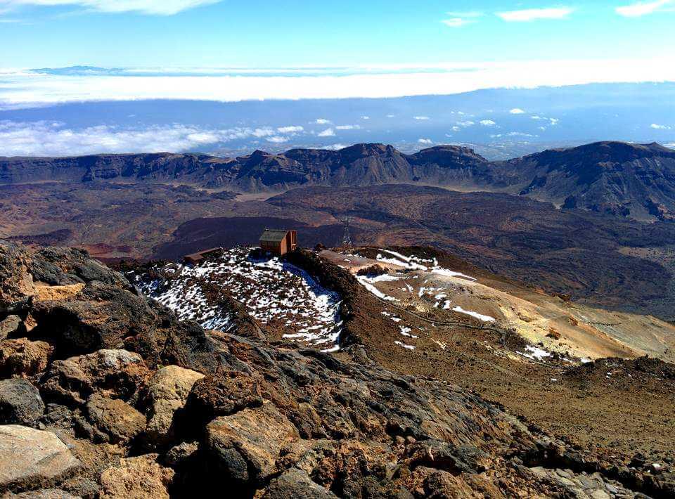 Вид с вершины вулкана Тейде