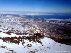 Снег на вулкане Тейде